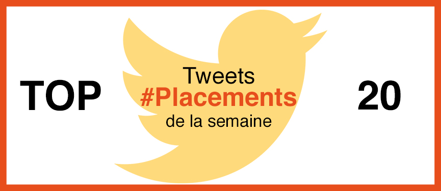Top 20 des tweets #placements de la semaine #19
