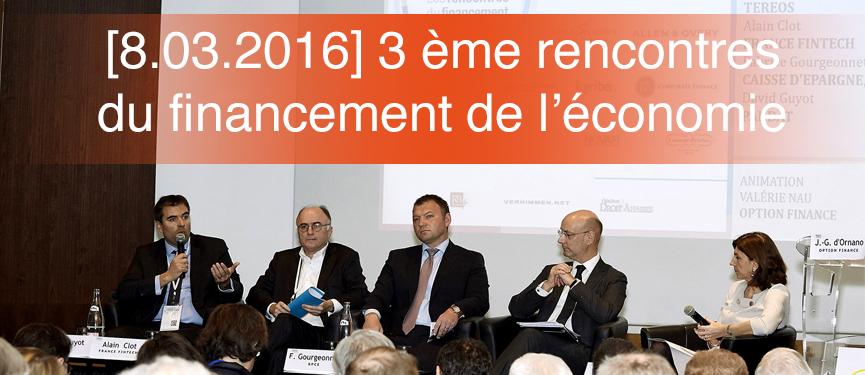 David Guyot a pris la parole aux 3ème rencontres du financement de l'économie organisées par Option Finance