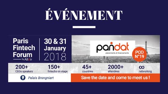 Pandat participe au Paris Fintech Forum les 30 et 31 janvier