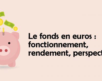 Le fonds en euros : fonctionnement, rendement, réserves, perspectives…