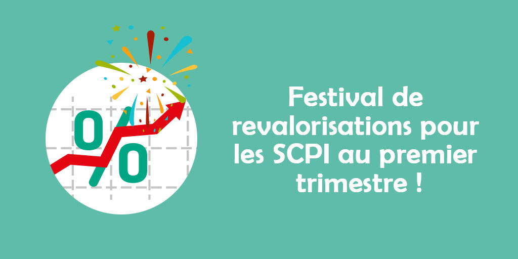 Festival de revalorisations pour les SCPI au premier trimestre!