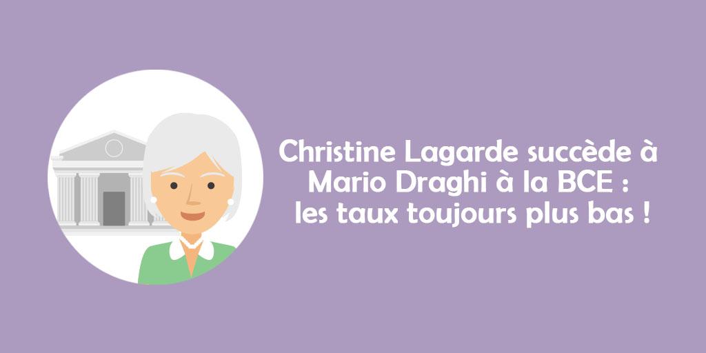 [ÉDI'TAUX] Christine Lagarde succède à Mario Draghi à la BCE : les taux toujours plus bas!