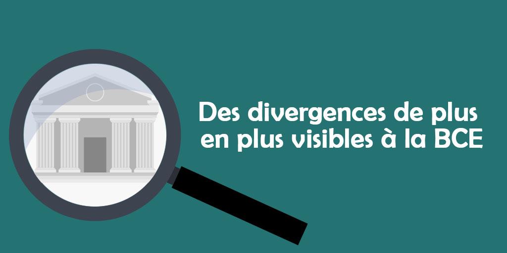 [ÉDI'TAUX] Des divergences de plus en plus visibles à la BCE
