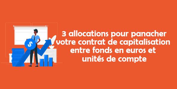 3 allocations pour panacher votre contrat de capitalisation entre fonds en euros et unités de compte